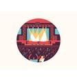 Concert design flat vector image