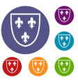 crest icons set vector image vector image