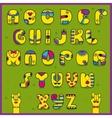 Dandy Alphabet Artistic font vector image vector image