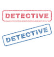 detective textile stamps vector image vector image