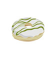 donut cream with pandan sauce vector image vector image