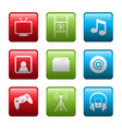 electronic entertainment icons vector image vector image