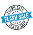 flash sale round grunge ribbon stamp vector image vector image