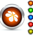 Flower button vector image