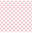 geometric pink seamless pattern Triangles vector image vector image