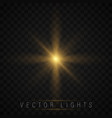 glow light effect vector image vector image