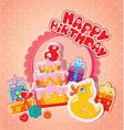 happy birthday 8year 380 vector image vector image