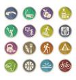 healthy lifestyle icon set vector image