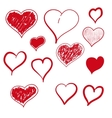 heart hand drawn vector image vector image