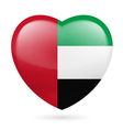 Heart icon of United Arab Emirates vector image vector image