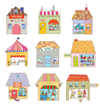 Houses of the funny town set - companies and vector image