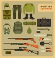 Hunting equipment vector image vector image