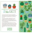 i like cacti background vector image