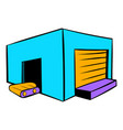 industrial warehouse icon icon cartoon vector image vector image