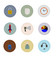isolated business flat icons vector image vector image