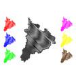 kon tum province map vector image vector image