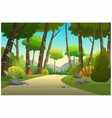 landscape in daytime is very beautiful vector image vector image