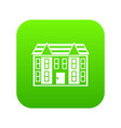 large two-storey house icon digital green vector image vector image