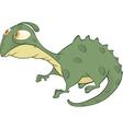 Little green lizard cartoon vector image vector image