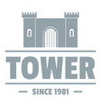 luxury tower logo simple gray style vector image vector image
