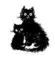mama cat and her baby kitten sitting vector image