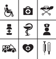 Medical health care icons set vector image