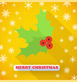 merry christmas decorative postcard vector image vector image