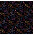 Neon seamless pattern shcool vector image