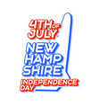 new hampshire state 4th july independence day vector image vector image