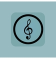 Pale blue music sign vector image