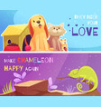 pet shop banners vector image vector image