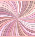 pink hypnotic abstract spiral ray stripe vector image vector image