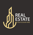 real estate simple logo design vector image