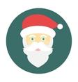 Santa Claus face icon flat vector image vector image
