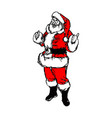 santa claus with thumb up sketch vector image vector image