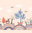 seamless autumn border vector image