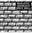 seamless texture grey contrast brick wall vector image vector image