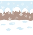 Seamless winter landscape vector image