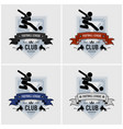 soccer team club logo design artwork of football vector image