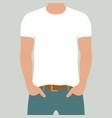t-shirt mockup white and black vector image vector image