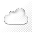 transparent cloud vector image vector image