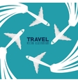 travel concept design vector image vector image