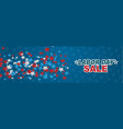 usa labor day sale banner blue background vector image vector image