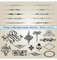 vintage calligraphic design elements vector image