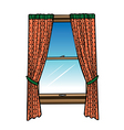 window curtains vector image vector image