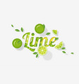 word lime design in paper art style vector image vector image