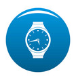wristwatch round icon blue vector image