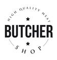 Butcher Shop vintage stamp vector image