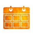 polygon golden icon calendar vector image