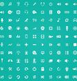 100 dj icons vector image vector image